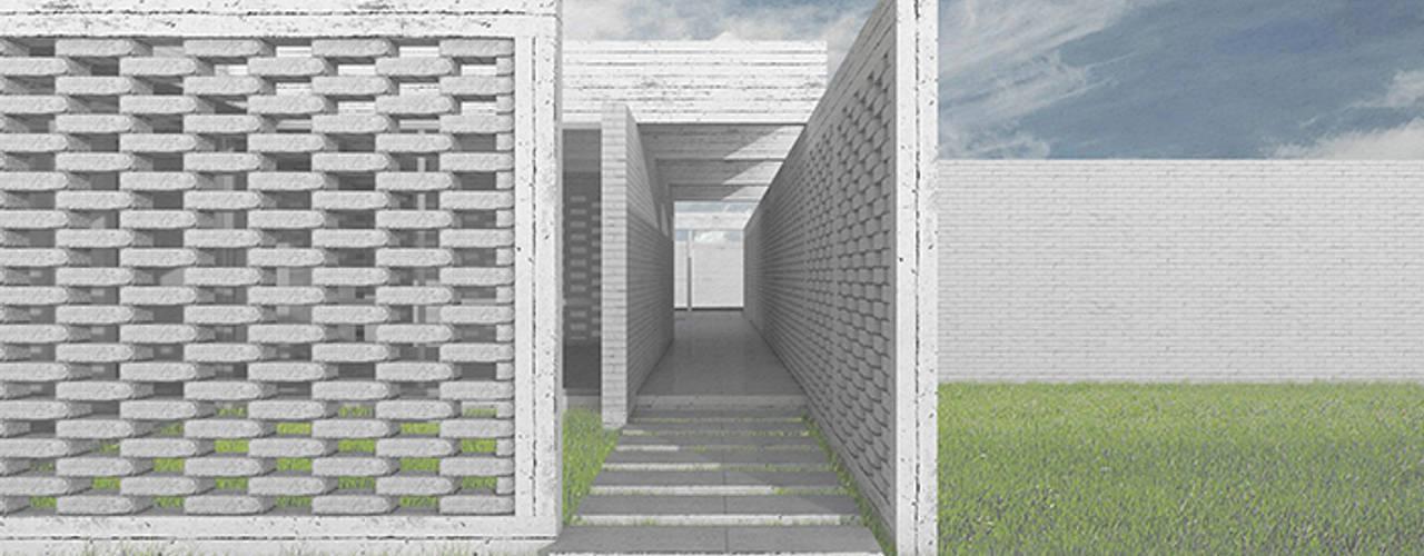 Casa en Machalí: Pasillos y hall de entrada de estilo  por mutarestudio Arquitectura