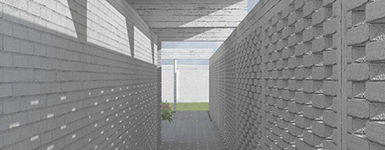 Casa en Machalí mutarestudio Arquitectura Pasillos, halls y escaleras rurales