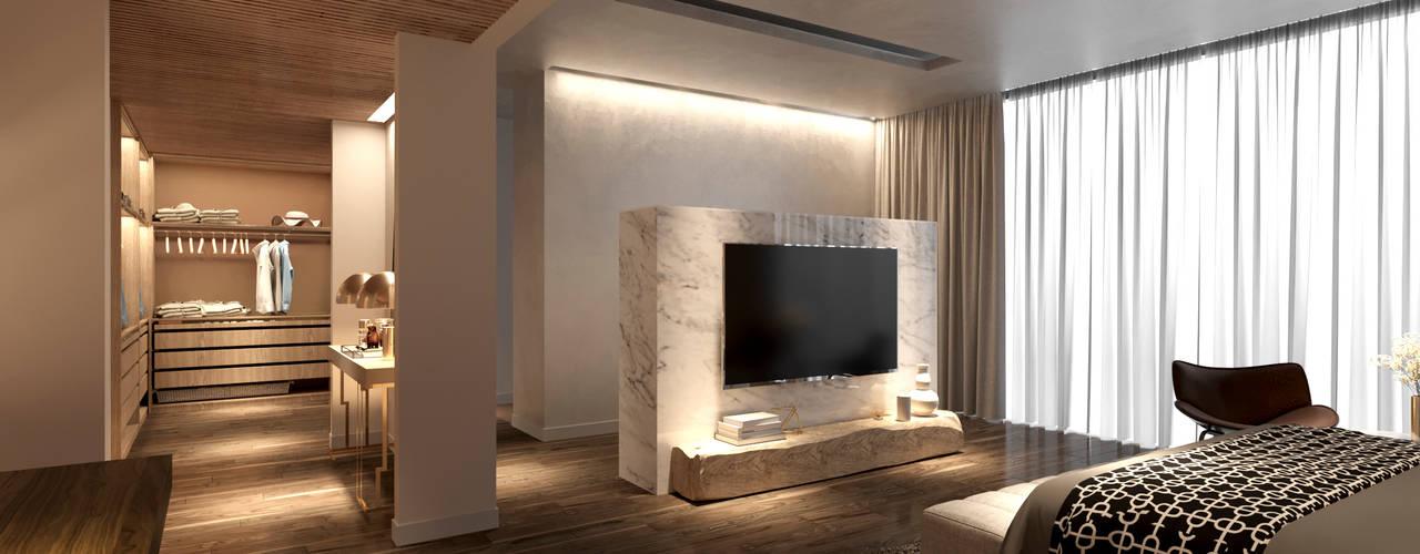 Penthouse Ky Dong Plaza - district 3 - Hcm City Archifix Design Phòng ngủ phong cách hiện đại