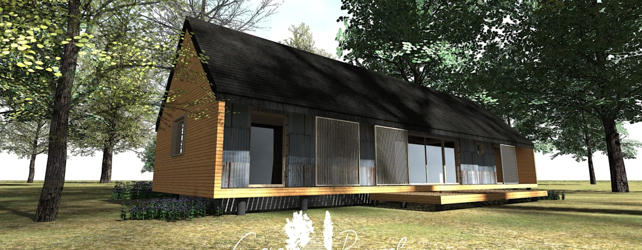 Diseño de Casa Modular Térmica en Coyhaique y Región de Aysén de casa rural - Arquitectos en Coyhaique Rural