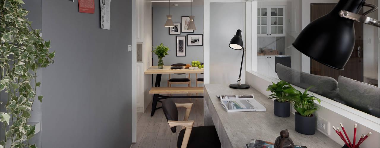 Phòng học/văn phòng phong cách Bắc Âu bởi 寓子設計 Bắc Âu