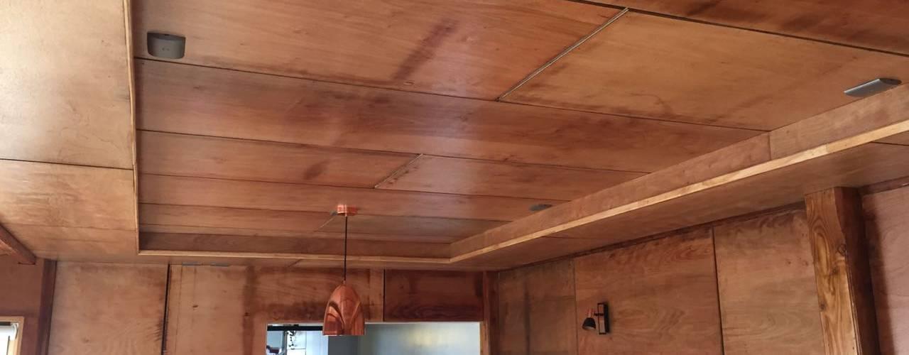 Ampliación de Casa MG Jardín en Puerto Montt por CIVCO : Techos planos de estilo  por Civco Ltda