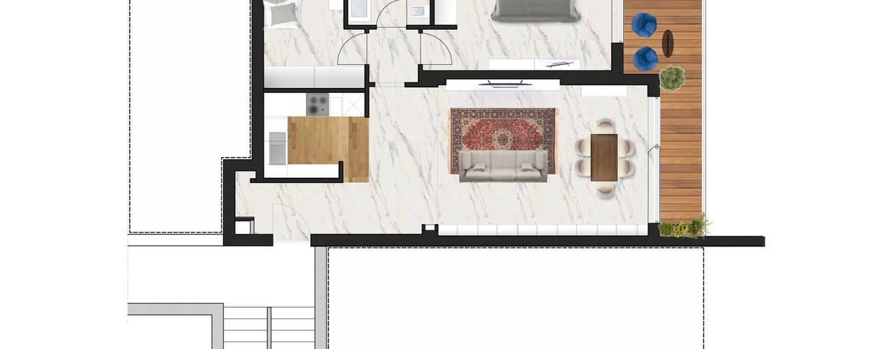 Progetto ristrutturazione appartamento 60mq a roma for Progetto ristrutturazione appartamento