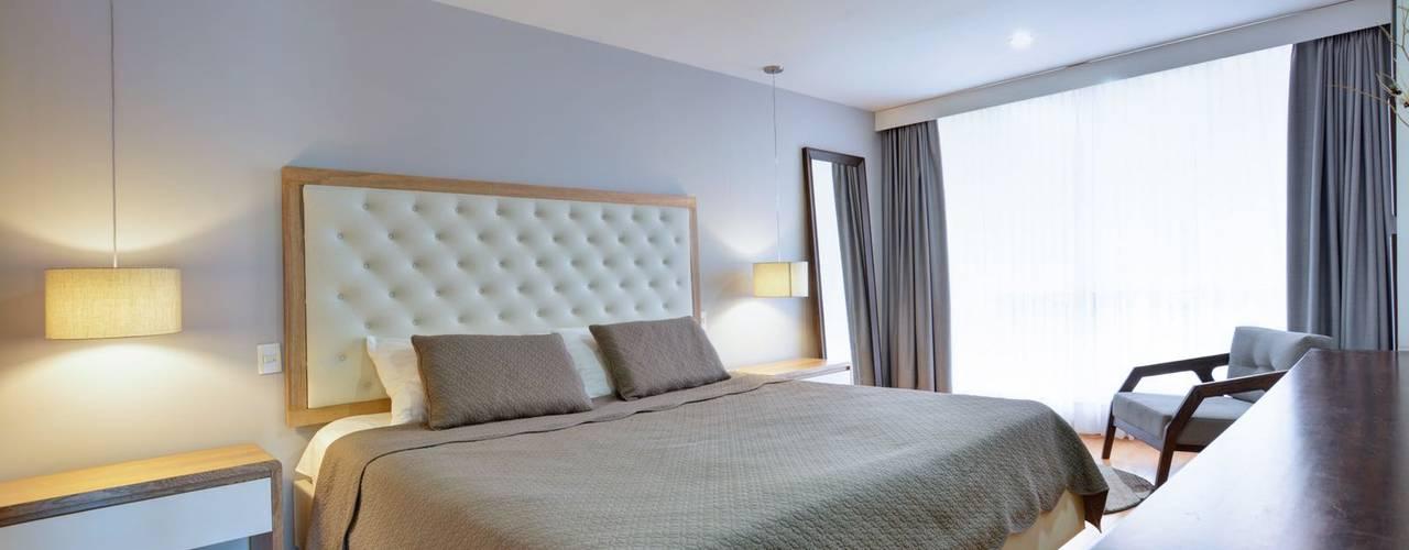 Gauss, disfruta cada espacio: Habitaciones de estilo  por Natalia Mesa design studio, Moderno