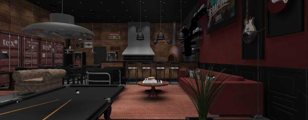 Pub Residencial 1: Bares e clubes  por Designer Paula Daiane dos Santhos
