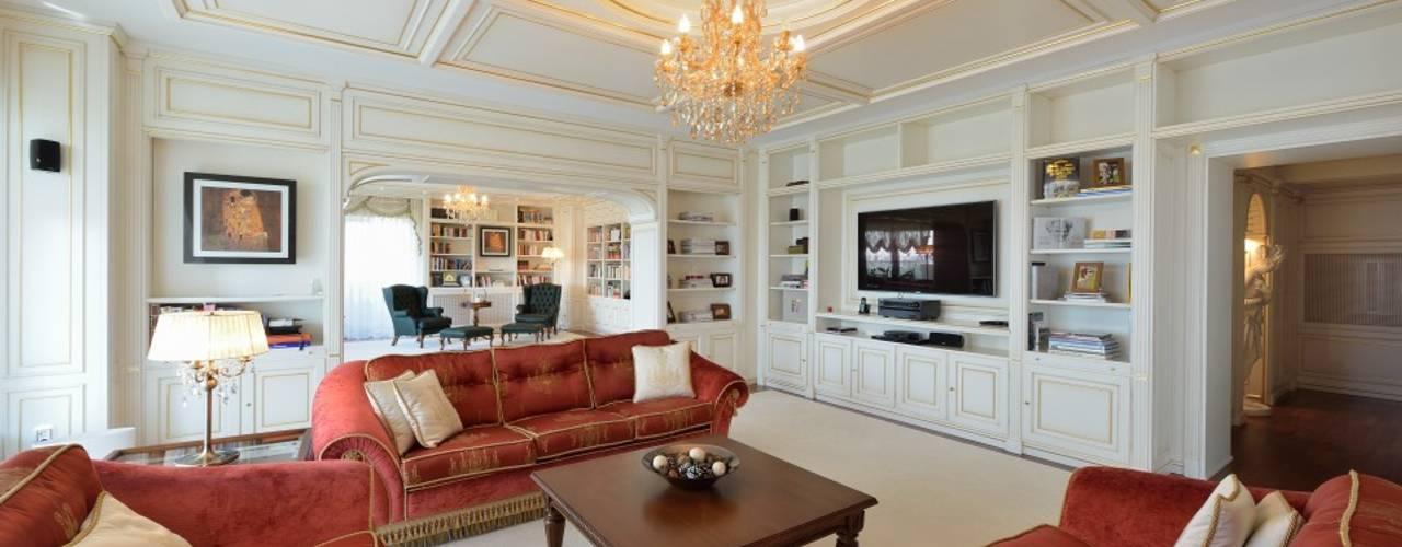 Appartamento classico a Bucarest Turati Boiseries Soggiorno classico Legno