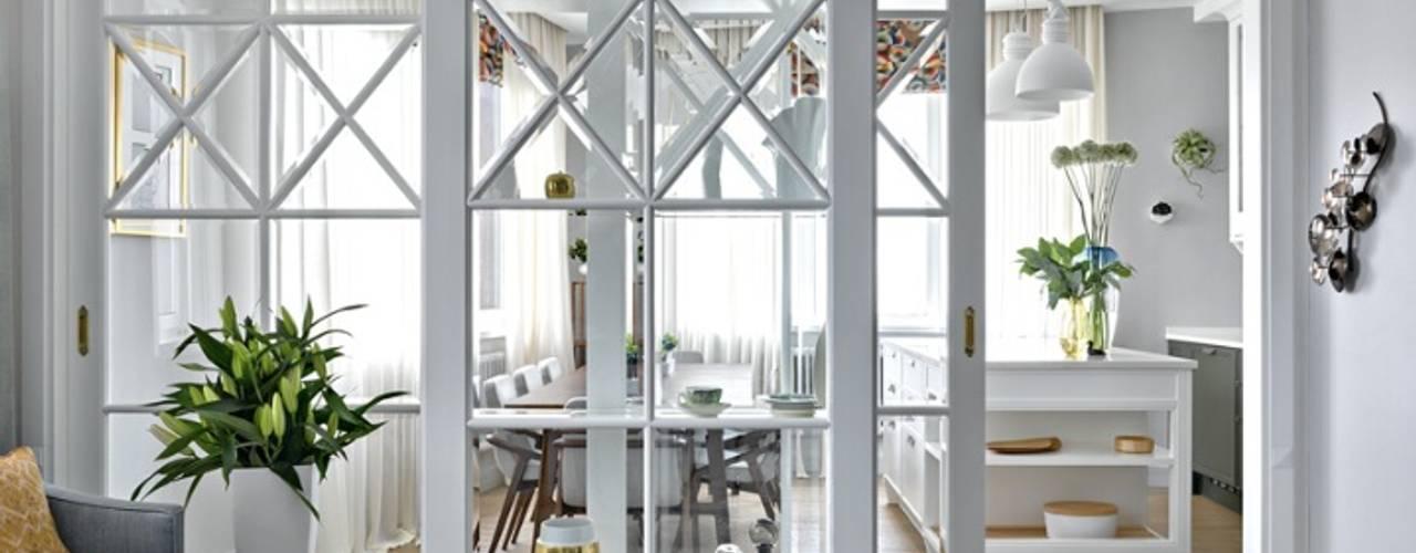 Appartamento Turati Boiseries Soggiorno classico Legno Bianco