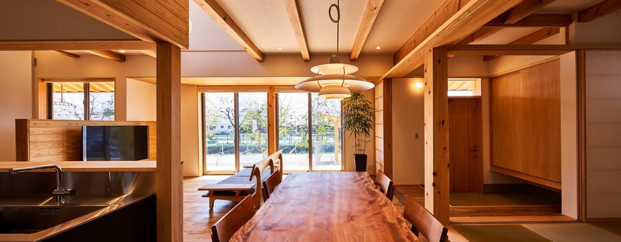 Projekty,  Jadalnia zaprojektowane przez 梶浦博昭環境建築設計事務所
