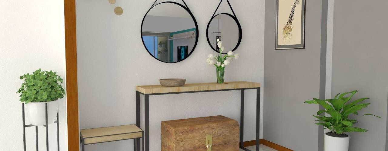 recibidor : Pasillos y vestíbulos de estilo  por Naromi  Design