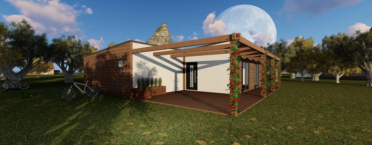 Modelo | T2 123m² por Discovercasa | Casas de Madeira & Modulares Moderno