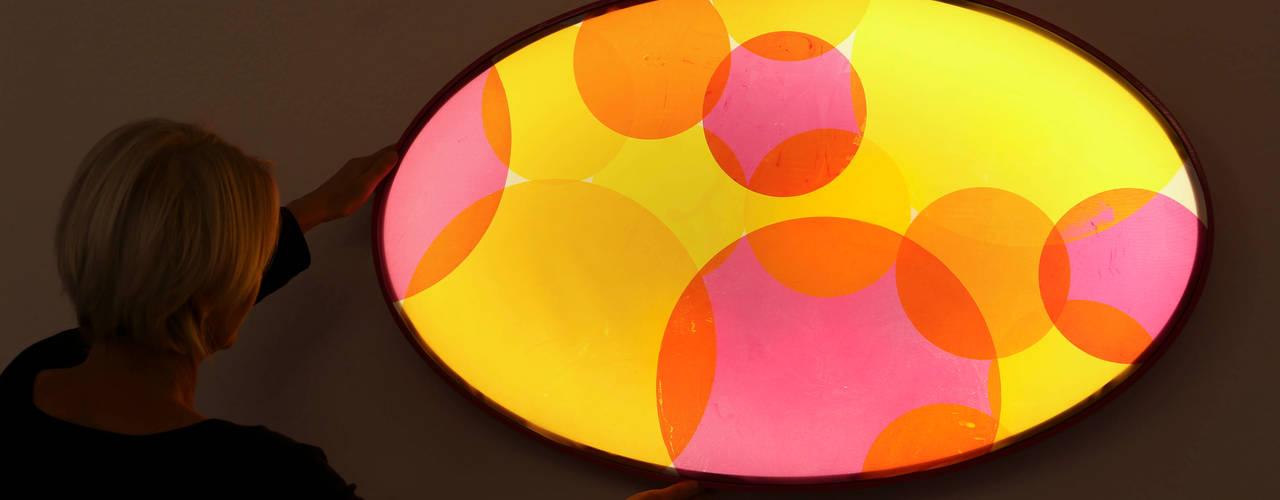 Lichtobjekte: moderne Wohnzimmer von Textile Objekte