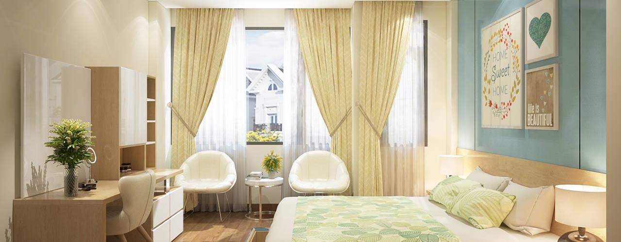 Chambre moderne par Công ty TNHH TK XD Song Phát Moderne