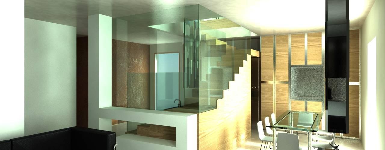 Renovatie kleine Penthouse van MEF Architect Modern