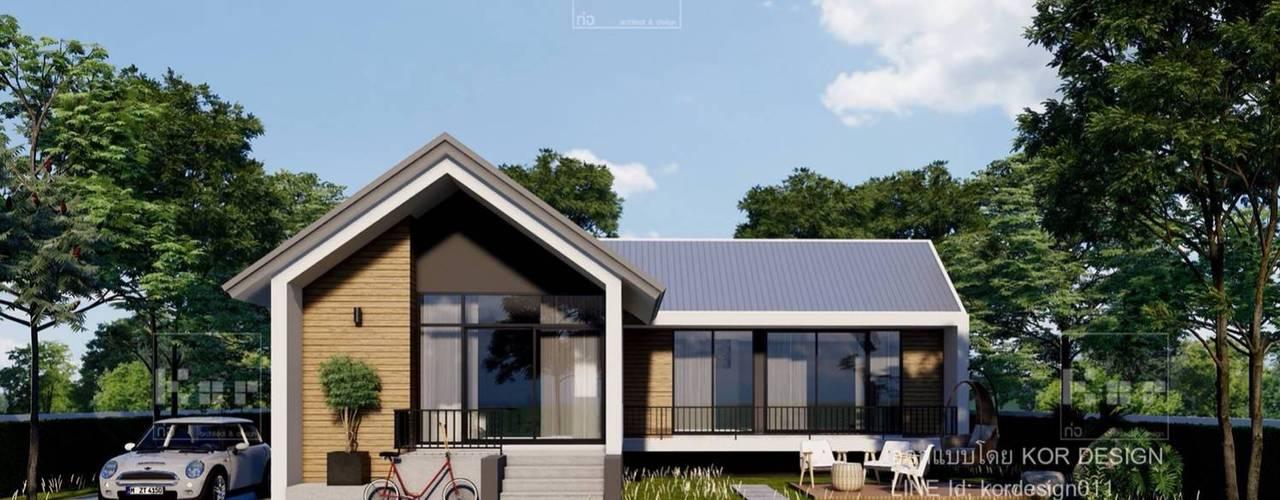 งานออกแบบบ้านชั้นเดียว รหัส MD1-001 Kor Design&Architecture บ้านเดี่ยว Grey