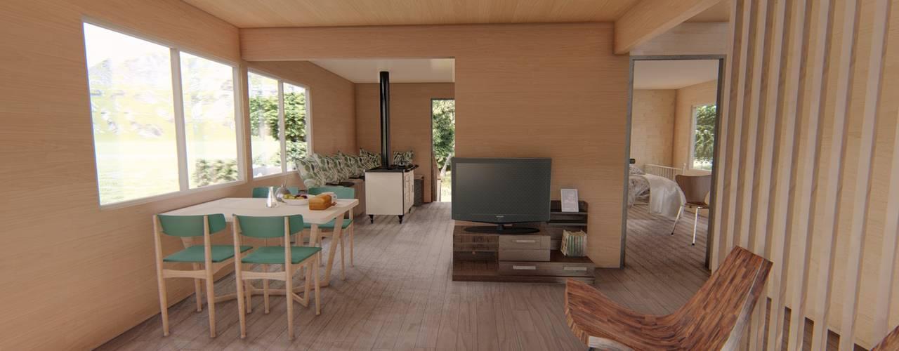 Imagen 3d interior : Livings de estilo  por Ekeko arquitectura