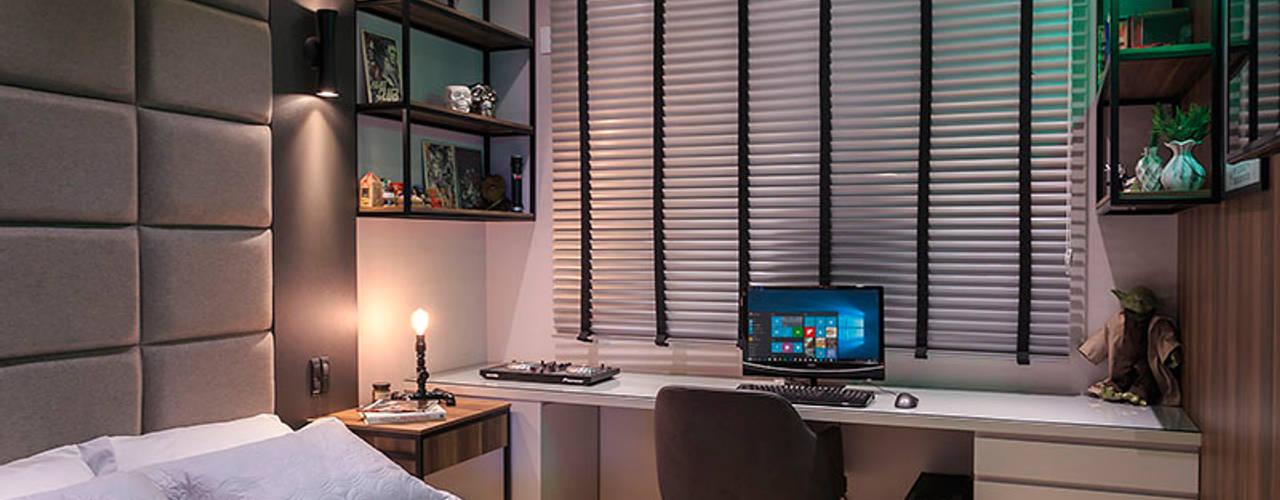 Apartamento com design contemporâneo e atemporal Panorama Arquitetura & Interiores Quartos ecléticos