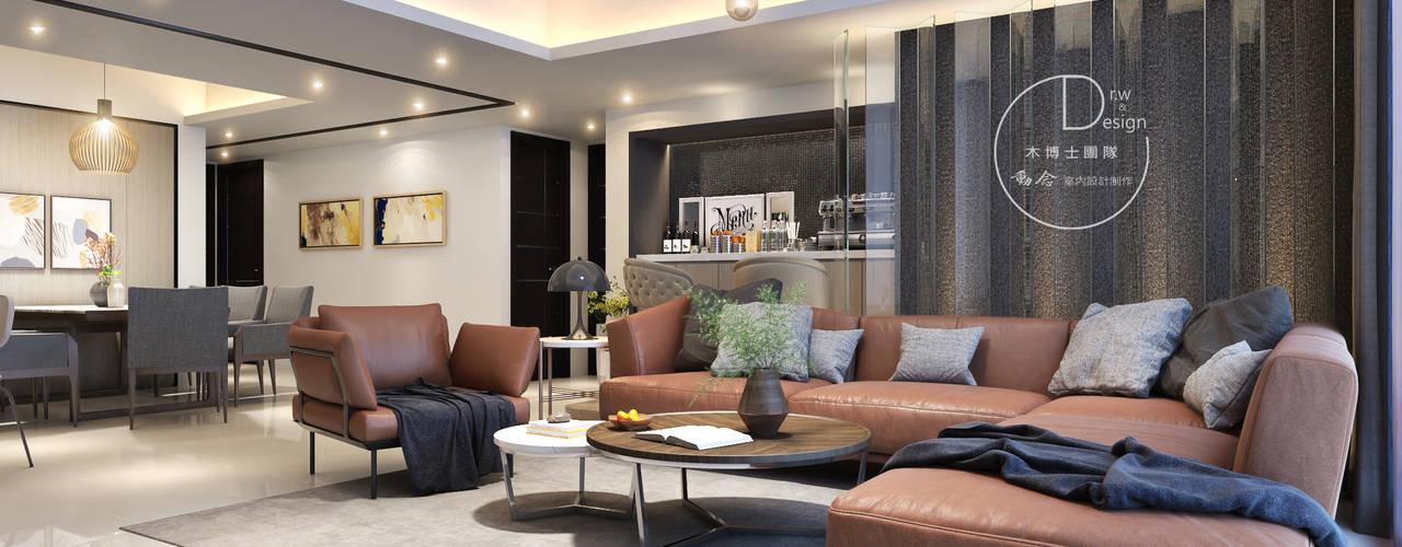Salones de estilo moderno de 木博士團隊/動念室內設計制作 Moderno