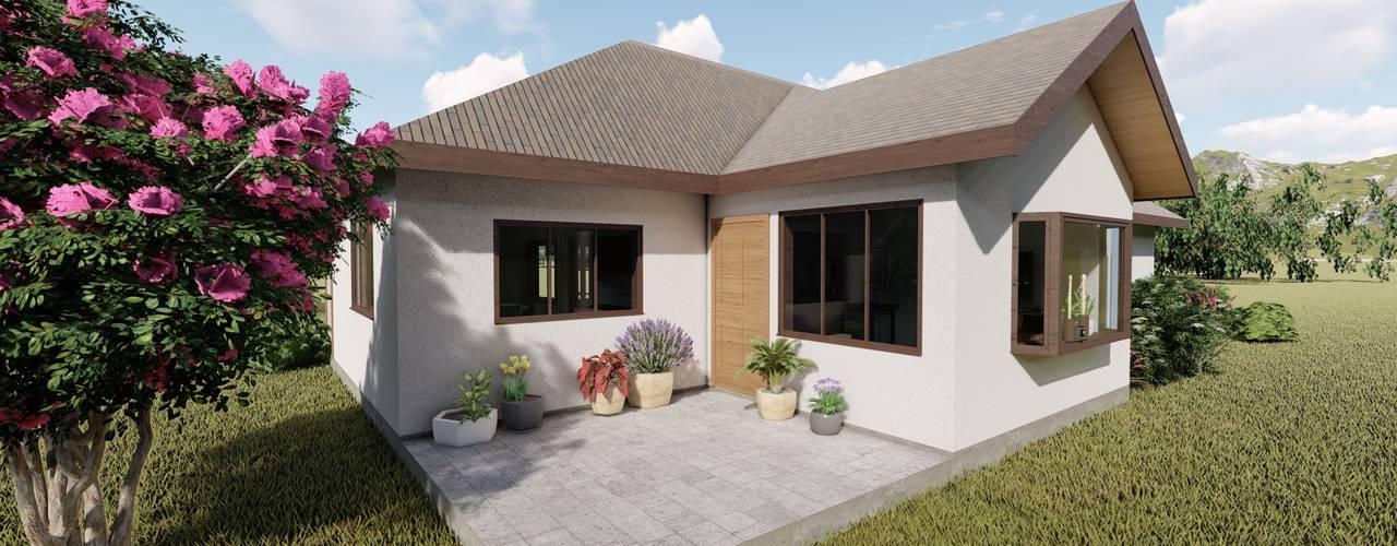 Diseño de vivienda campestre 120 m2 de Ekeko arquitectura - Coquimbo Colonial