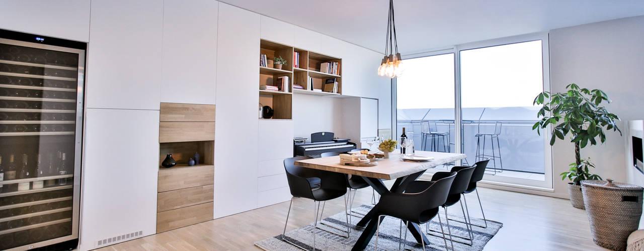 Interiorismo para un salón comedor de estilo industrial