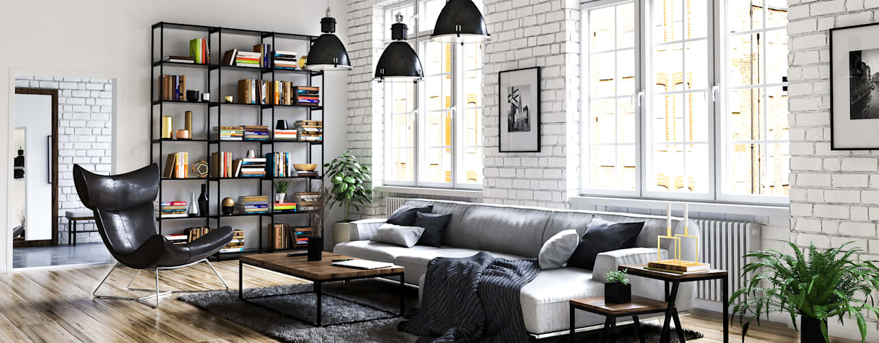 Living room by Steven Romsits - 3D Visualisierung,