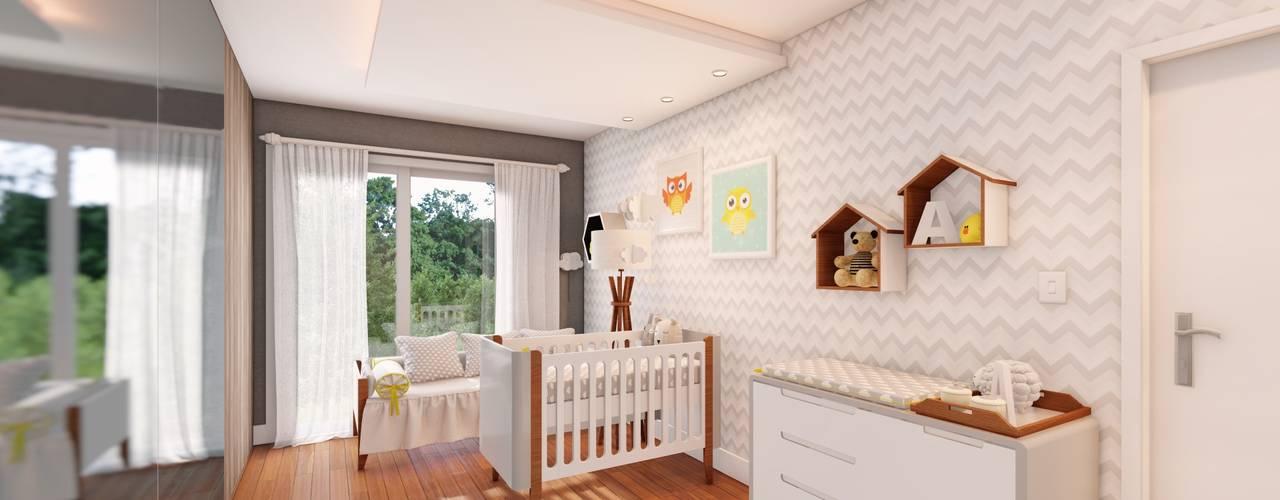 Quarto de Bebê : Quartos de bebê  por Studio MP Interiores ,Moderno