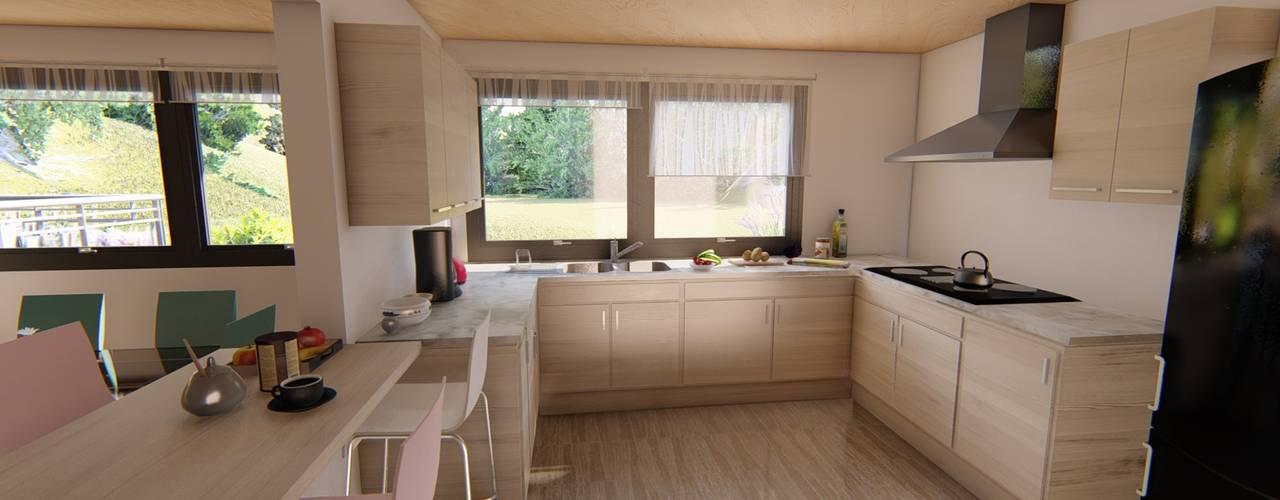 cocina : Muebles de cocinas de estilo  por Ekeko arquitectura