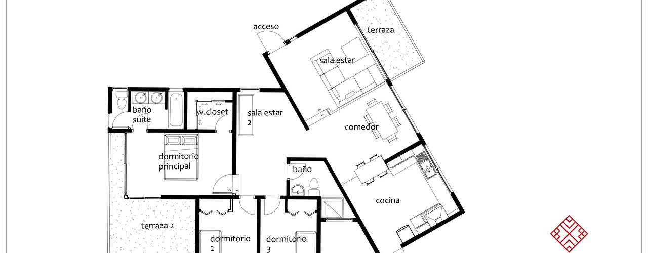 Diseño vivienda en ladera con desniveles 104m2 en Peñuelas de Ekeko arquitectura - Coquimbo