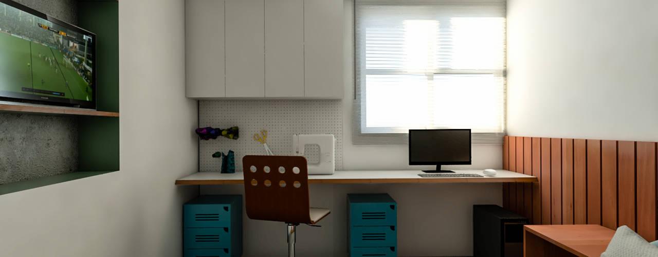 Apartamento DIV 285 arquitetura e urbanismo Quartos modernos