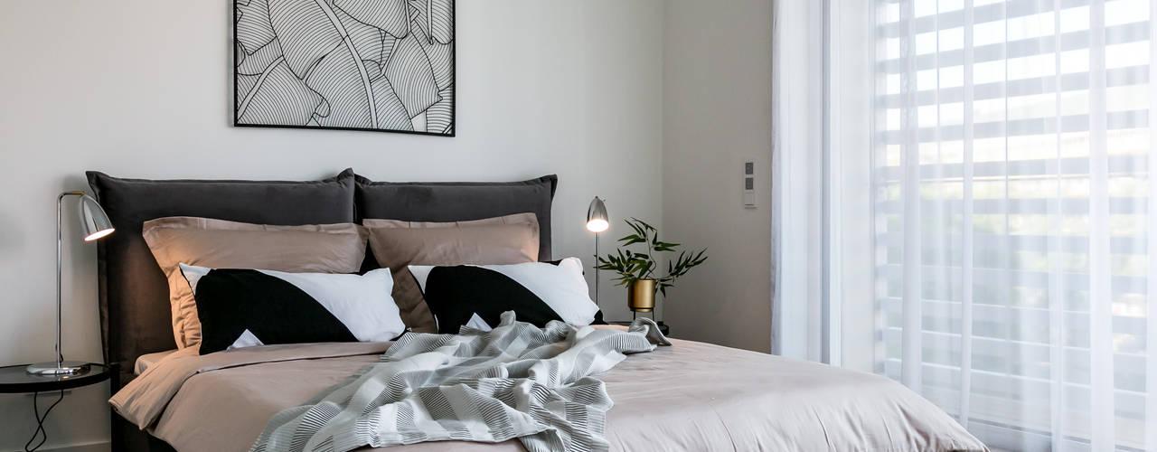 Möbliertes Apartment at Berlin Mitte Architekturfotograf Stefan Rasch Moderne Schlafzimmer