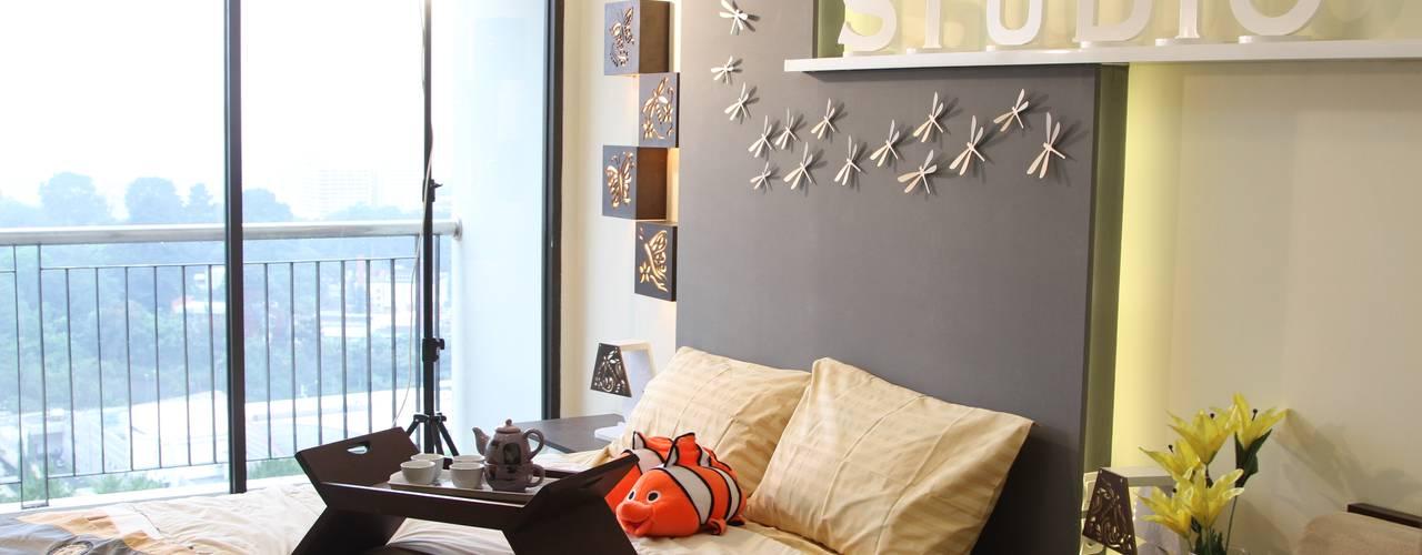 BEVERLY - Apartment Tipe Studio B:  Kamar Tidur by POWL Studio