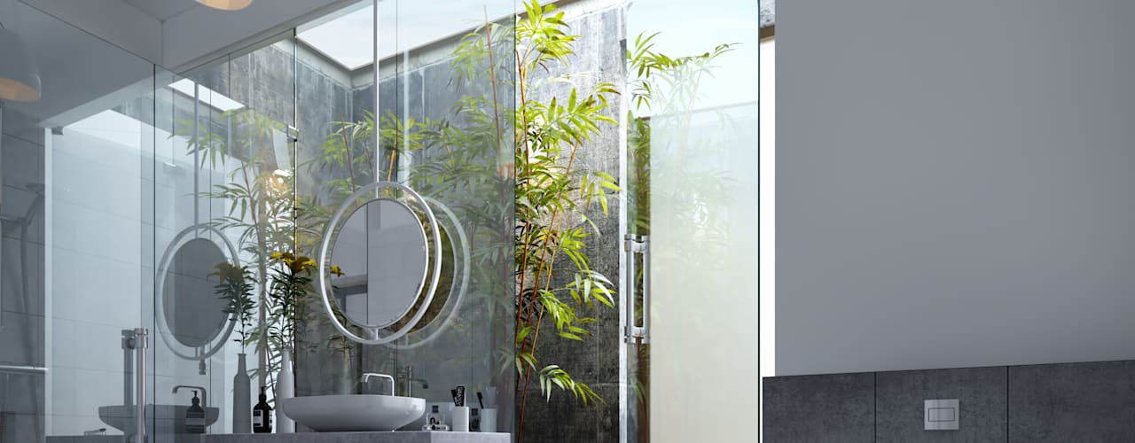 Palla : Farm house Studio Gritt Modern bathroom