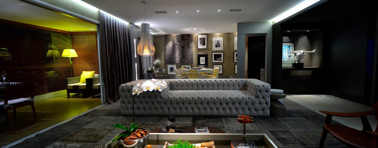 Área Social com Design: Salas de estar  por BG arquitetura   Projetos Comerciais,Moderno