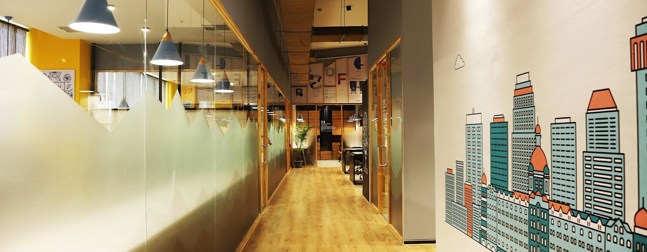 Innov8- Boston House, Andheri Eclectic style office buildings by Studio Gritt Eclectic