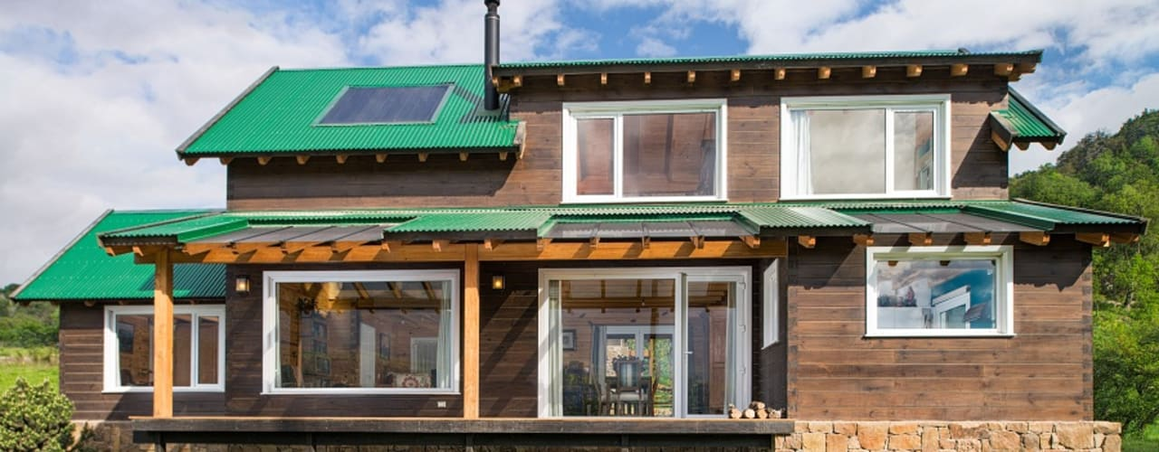 Patagonia Log Homes - Arquitectos - Neuquén Casas de madera Madera Acabado en madera