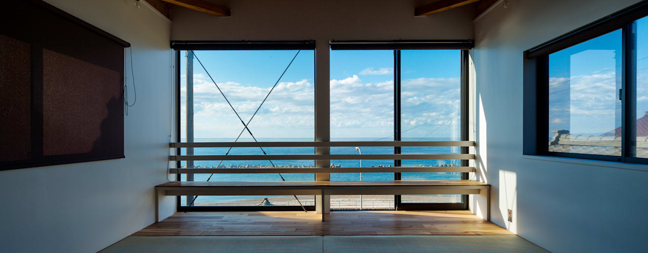 海の家 エヌ スケッチ 和風の 寝室