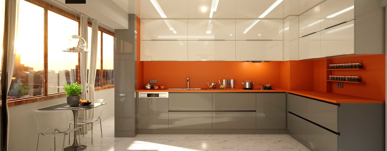 ANTE MİMARLIK Kitchen units Brown