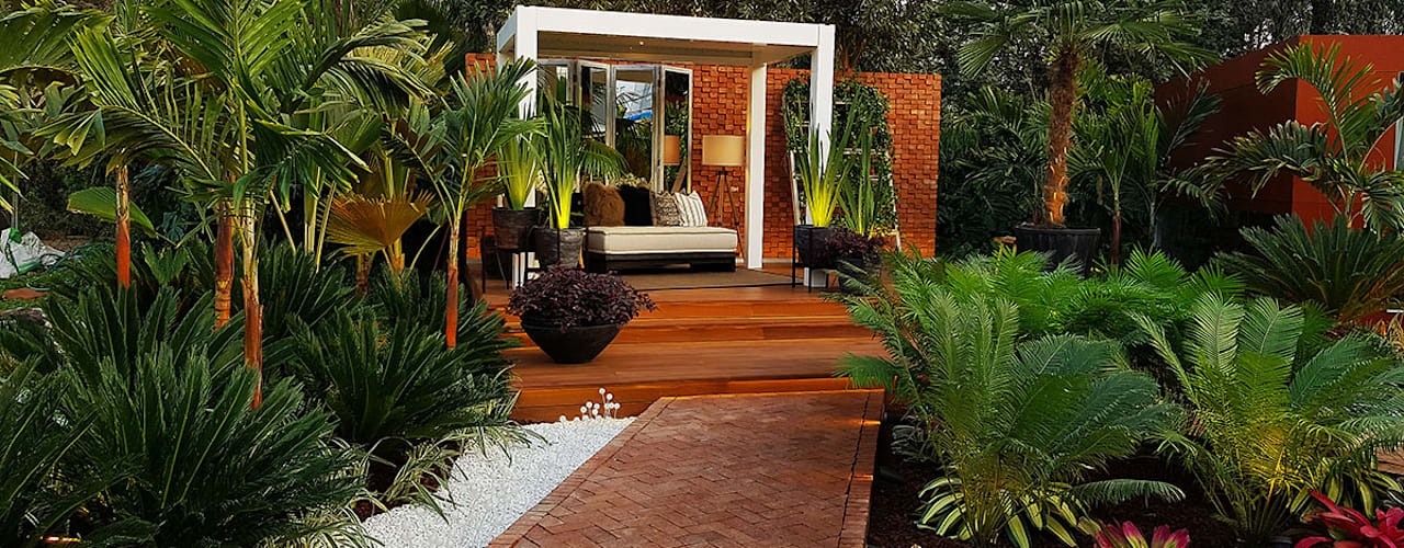 Tropical style gardens by Marcia Lenz Paisajismo Tropical