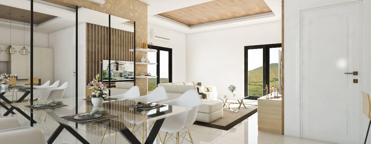 Desain Interior Modern Tropis Menawan:  Ruang Makan by PT. Leeyaqat Karya Pratama