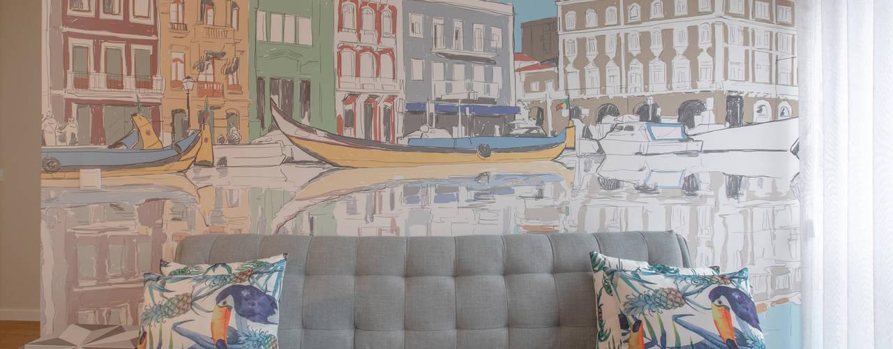 Canal Apartments – Alojamento local – Aveiro por EMME Atelier de Interiores Moderno