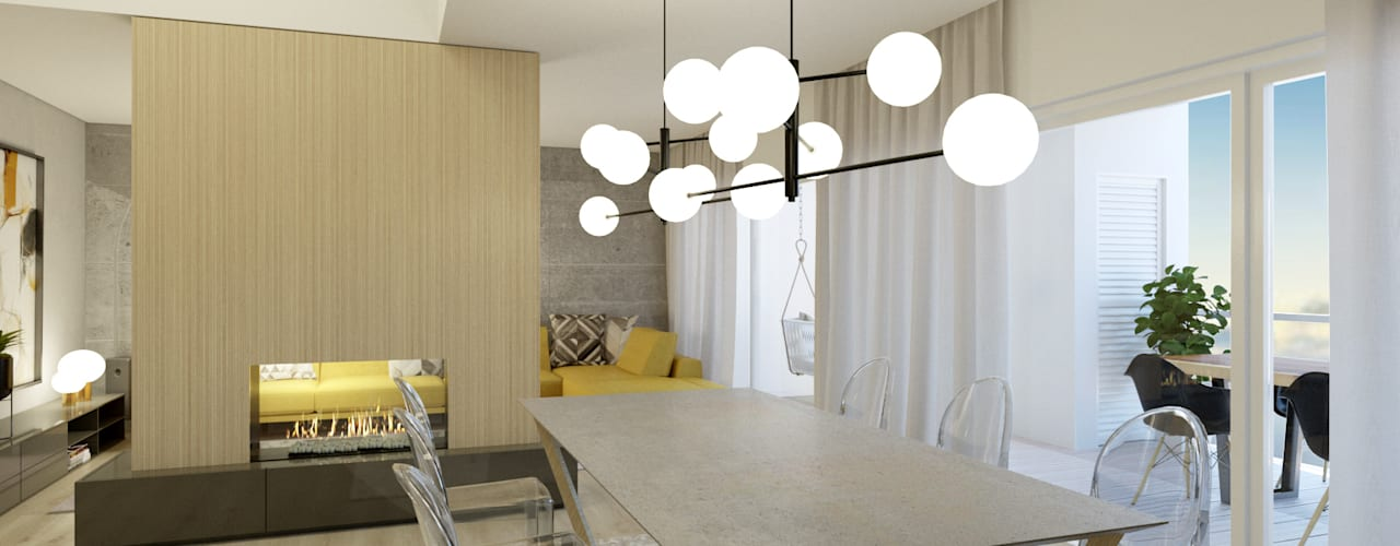CANDEEIRO SALA DE JANTAR MODERNO:   por Glim - Design de Interiores