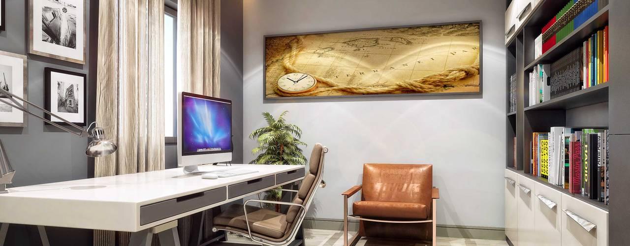 Рабочий кабинет в стиле модерн от ANTE MİMARLIK Модерн