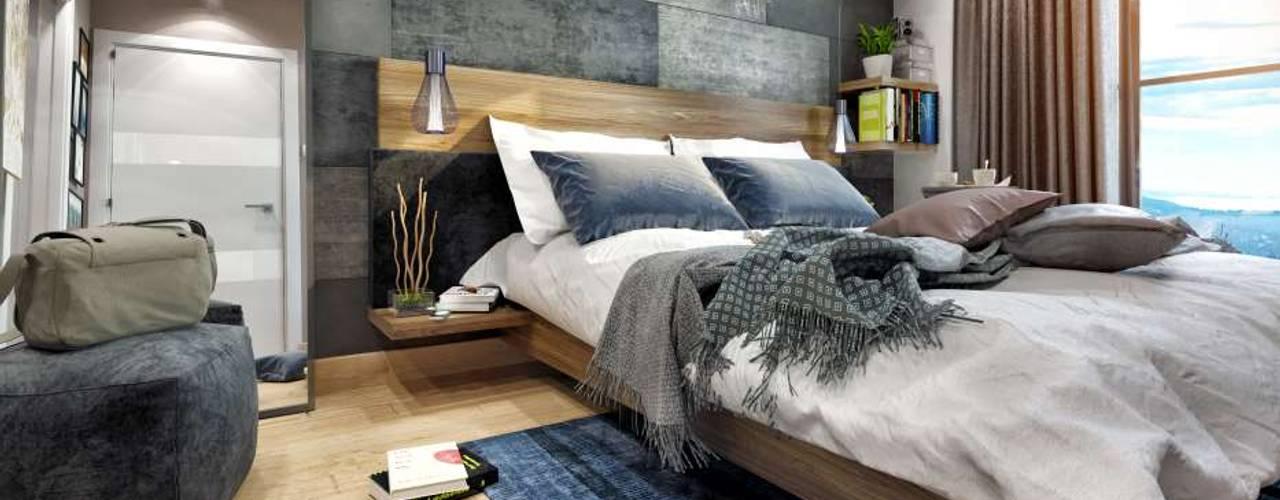 ANTE MİMARLIK  – Avcılar Cadde Bostan:  tarz Yatak Odası, Modern