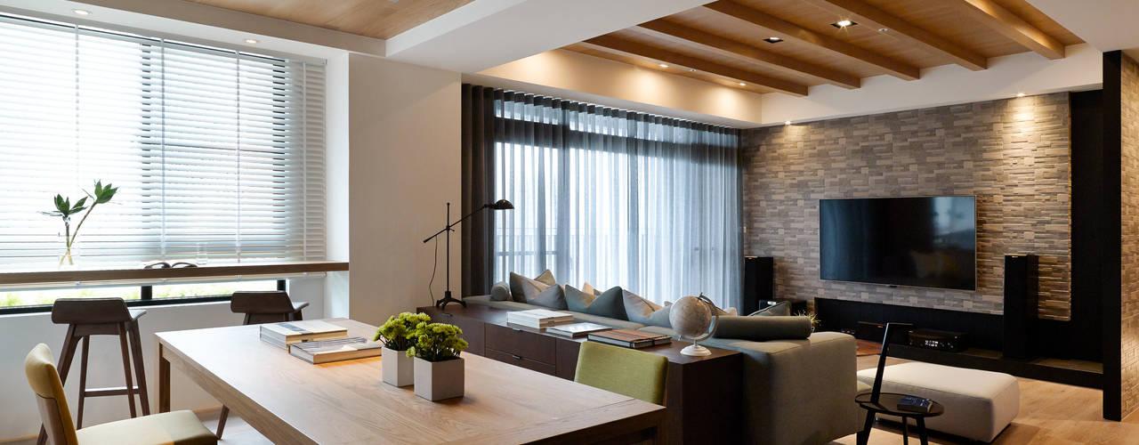 知己樹廈 现代客厅設計點子、靈感 & 圖片 根據 Fertility Design 豐聚空間設計 現代風