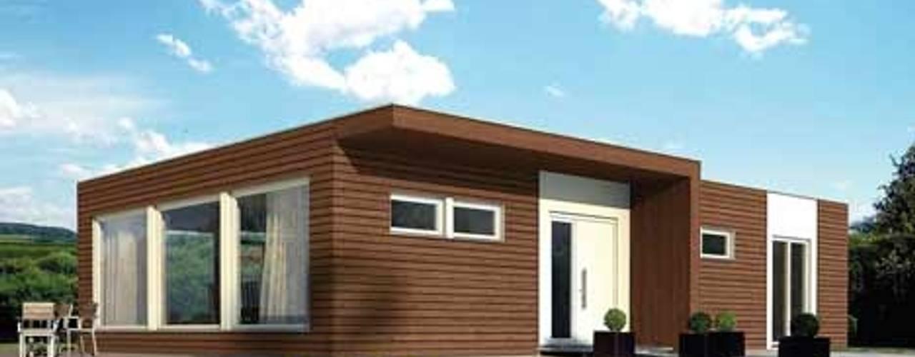Casas prefabricadas de diseño y constricción exclusiva casasfrau Casas prefabricadas Madera Marrón