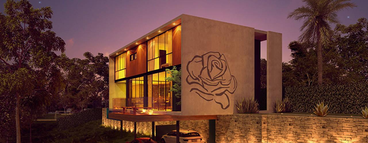 Paulo Stocco Arquiteto Rumah pedesaan Beton
