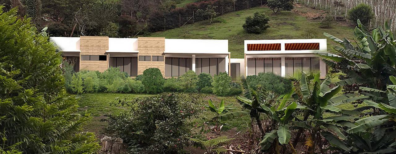 Casa J Andrés Hincapíe Arquitectos A H A Casas campestres Concreto Beige