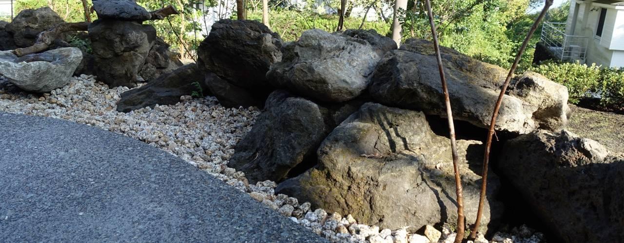 石積み完成: 庭や煌久が手掛けたです。
