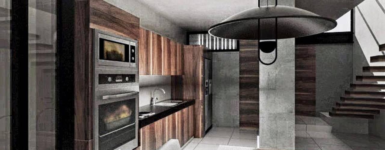 Proyecto de casa habitación diseñada en Mérida Comedores modernos de Heftye Arquitectura Moderno