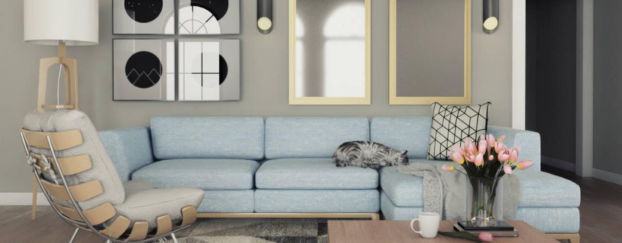¡Un espacio tranquilo para pasar tus días! Más Interorismo Salas modernas
