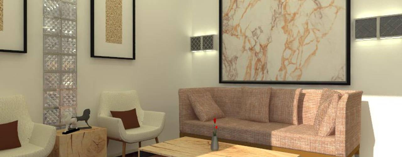 Salones modernos de Internodec Moderno